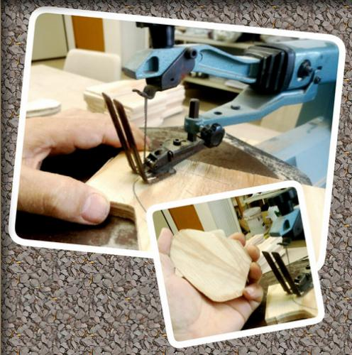 陶芸教室 東京国立けんぼう窯。天目茶碗用のコテ作り。