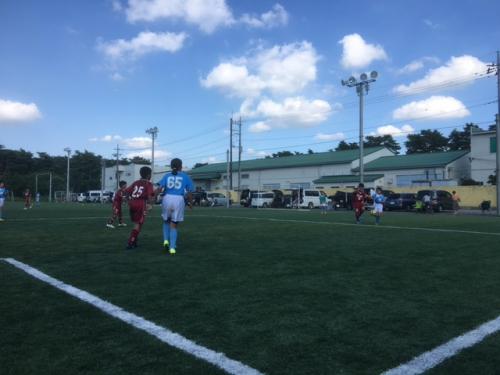 サッカーチーム活動夏合宿6 年生