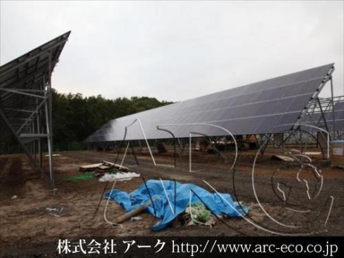 厚真町 メガソーラー 太陽光発電 パネル据え付け工事