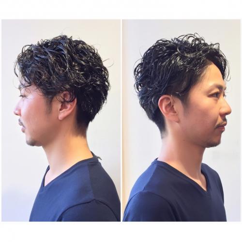 メンズカット ツーブロック メンズパーマ 髪型