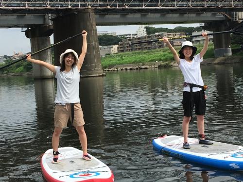 本日 川SUP 多摩川 クルージング!丸子橋