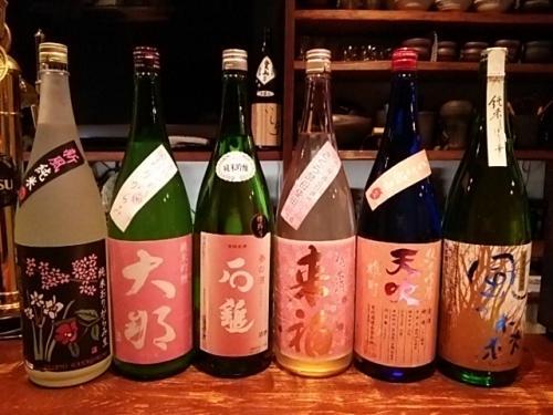 日本酒の新顔は石鎚・大那・賀儀屋・天吹いちご酵母等です!