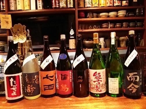 日本酒の再入荷は、たかちよ・鶴齢・七田・鍋島・大信州等です