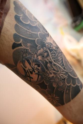刺青 額 龍 漢字