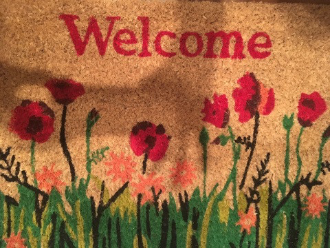 スタッフルーム welcome mat