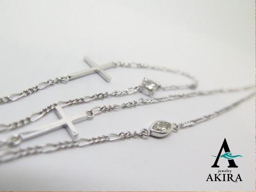 プラチナチェーンパーツカスタム ダイヤモンド クロス