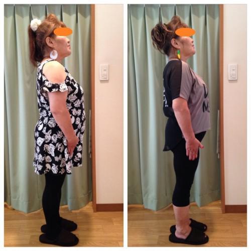 60代女性★3ヶ月で-9kg!!お腹お顔もスッキリ~♪