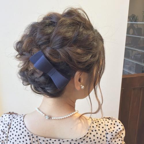 ヘアアレンジ パーティーヘア 編み込み 結婚式 髪型
