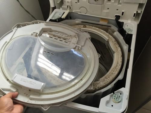 洗濯機 洗濯槽分解クリーニング 群馬県伊勢崎市