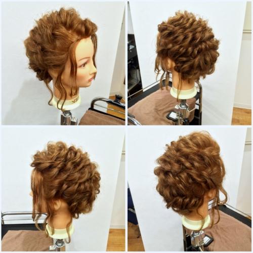 まとめ髪ヘアアレンジ練習
