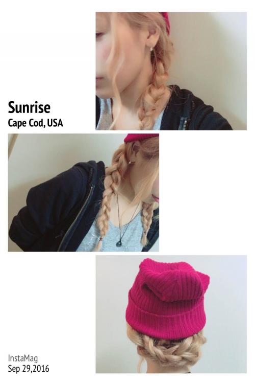 ニット帽✖️三つ編み 簡単アレンジ♪