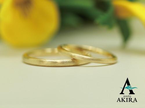 k18で結婚指輪のオーダーメイド 船橋市からのお客様
