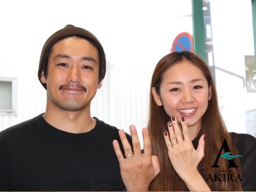 婚約指輪のオーダーを頂いたお客様、今回は結婚指輪の御納品です