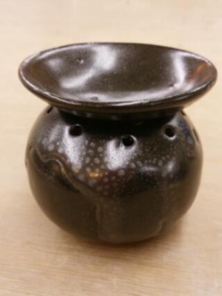 油滴天目の茶香炉 陶芸教室 東京国立けんぼう窯
