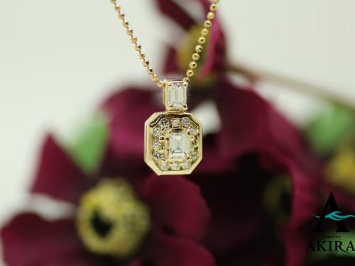 指輪とペンダントからダイヤを外し一つのペンダントにリフォーム