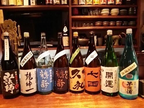 日本酒の再入荷は、鶴齢・久礼・早瀬浦・開運・七田等です
