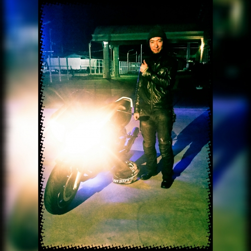 バイクでご来店です(^◇^)