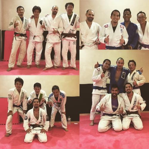 ブラジリアン柔術クラス、今日の参加者です。