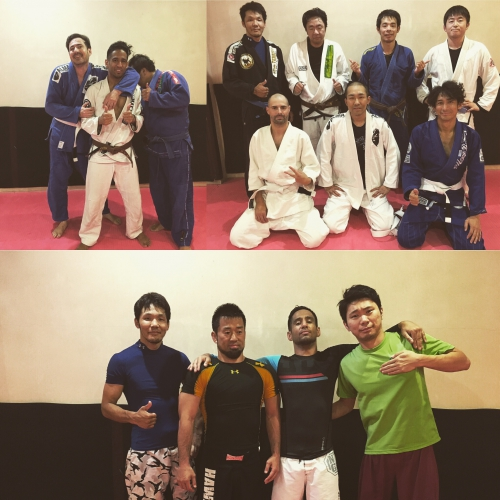 今日のブラジリアン柔術クラスの参加者