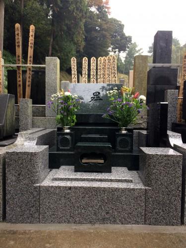 大長寺「K」家墓地完成しました。