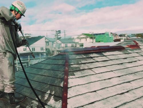 神奈川県藤沢市  N様邸 高圧洗浄作業