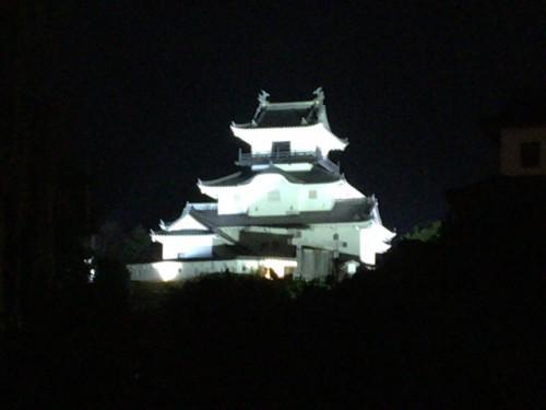 掛川城夜景をみたあとは、おしるこでほっこり