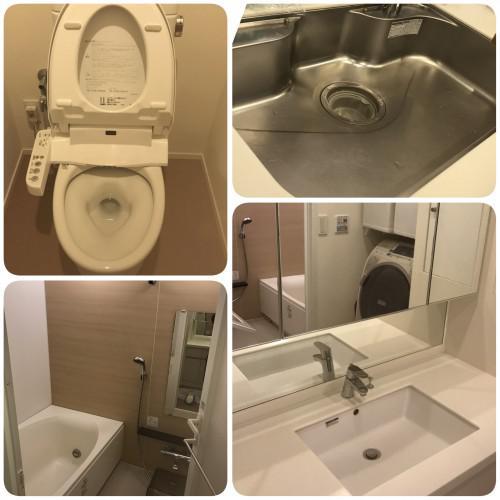 ハウスクリーニング、江戸川区、水回り5点、お掃除