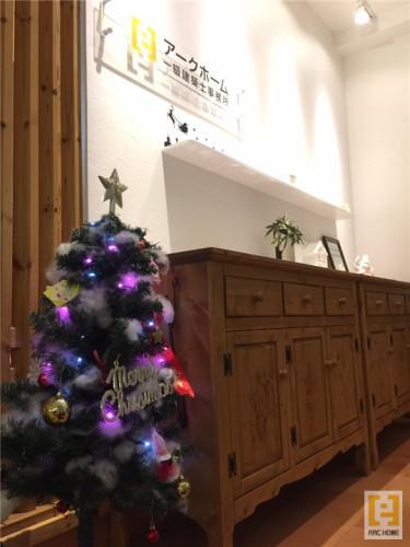 三角点通りに輝くクリスマス仕様アークホーム一級建築士事務所☆