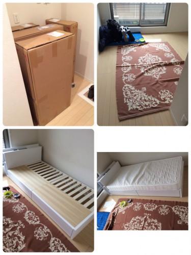 豊島区、ベッド組立、家具組立、日曜大工、便利屋