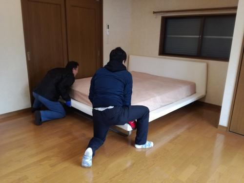 足立区青井て家具移動を2名で。