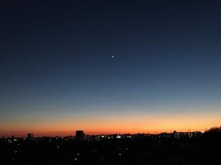 絵はがきのような宇都宮の夕焼け