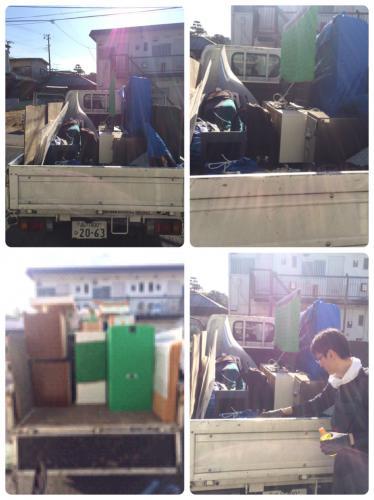 千葉県にてお引越しサポート、2tトラックにて実施!