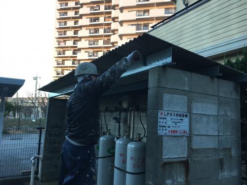 埼玉県戸田市 Pマンション 外部改修工事。