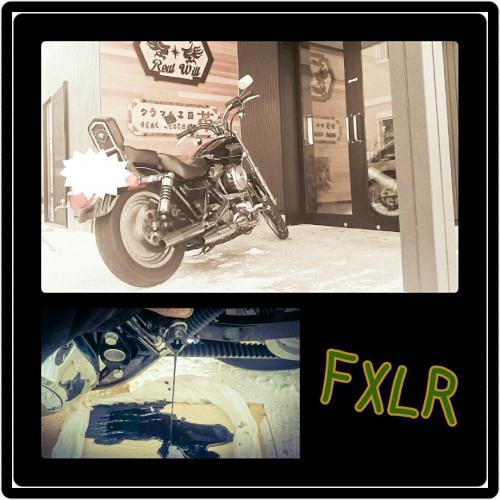 ハーレーダビットソン〜FXLRのオイル交換