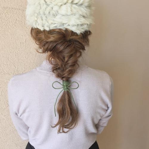 ヘアアレンジ 帽子アレンジ  編み下ろし ファッション