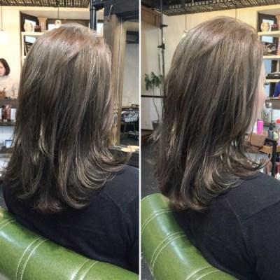 髪質改善カラー♪ ネイビーグレージュ
