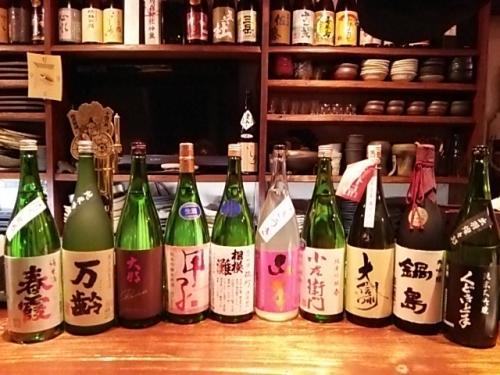 日本酒の新顔は春霞・万齢・大那・相模灘・山本・小左衛門等です