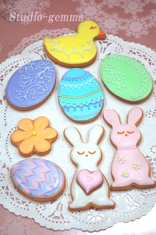 イースター:アイシングクッキーの試作