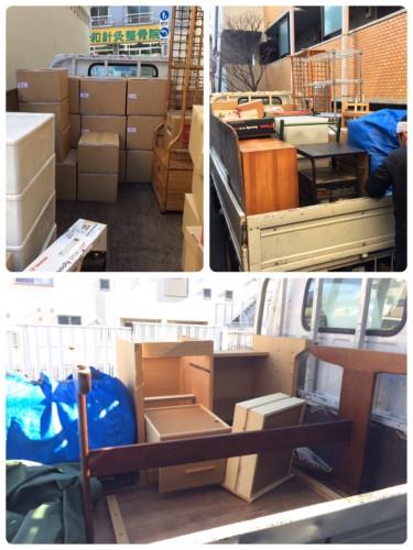 世田谷区、お引越・不用品回収サポート、2t平トラック