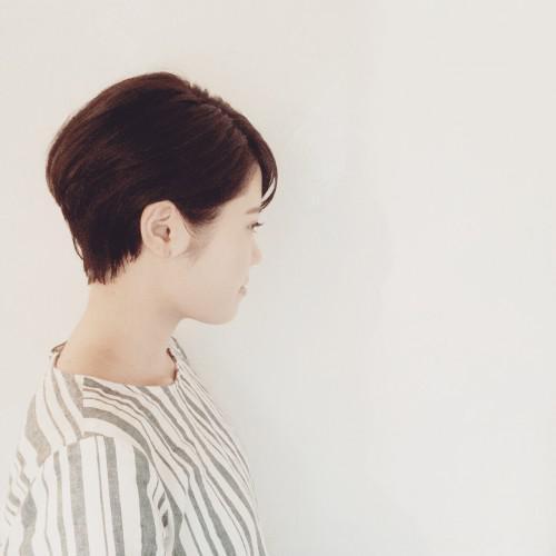 黒髪にあう大人ショート|美シルエット