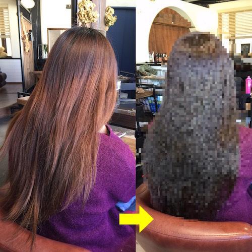 カラーの色ムラ、オレンジっぽく抜けやすい髪のヘアカラー♪