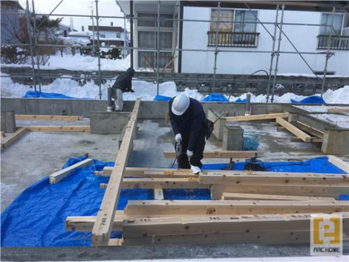 ☆新築戸建物件☆札幌市建築中現場情報を更新!土台敷き♪