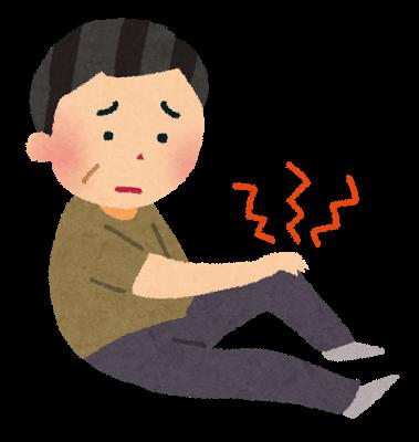 筋肉からの膝の痛み