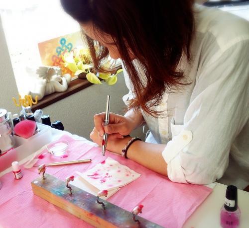 静岡市ネイルスクール エアーブラシ授業