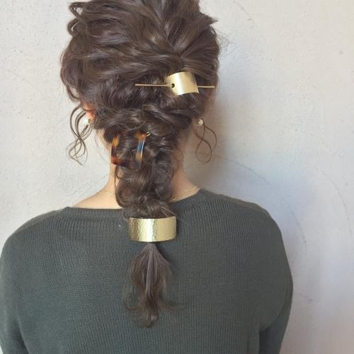 編みおろしスタイル アレンジヘア  マジェステ