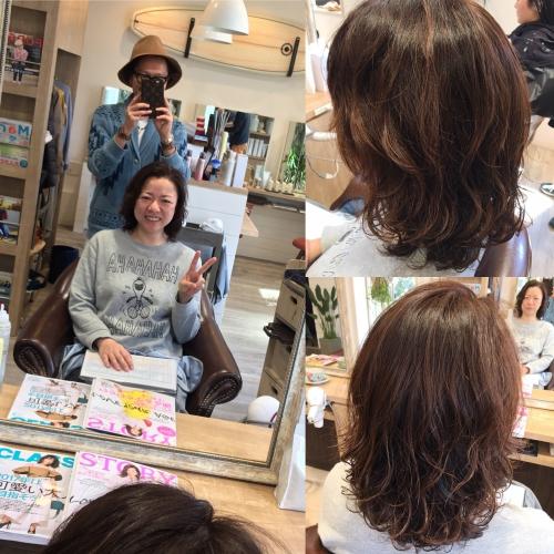 人気デジタルパーマヘアスタイル調布美容室髪型