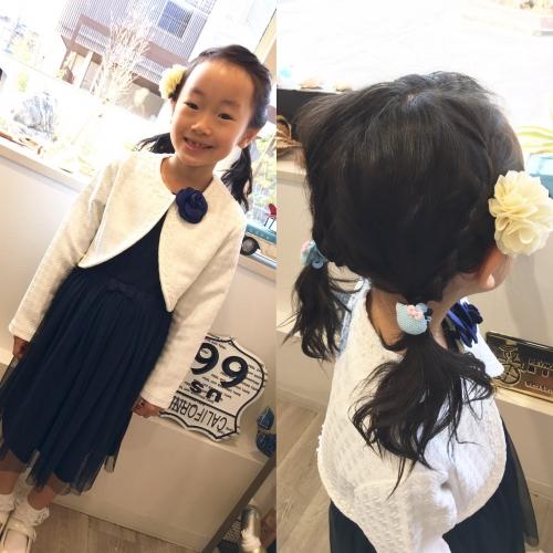 卒業式セットアレンジヘアスタイル調布美容院