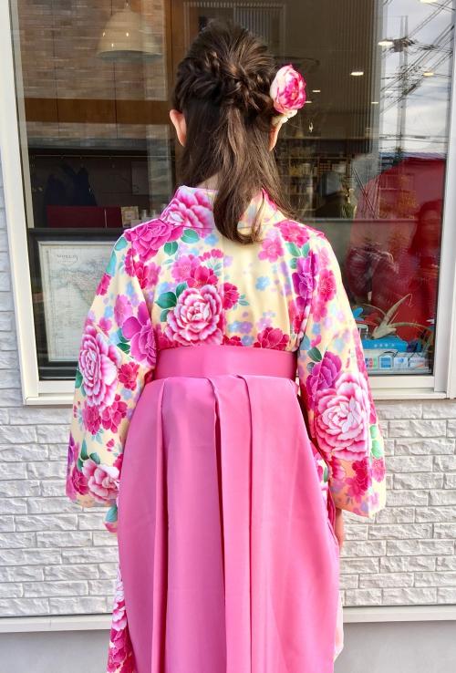袴着付けセットアレンジヘアスタイル調布美容院