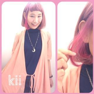 ポイントカラーバター!ピンク☆