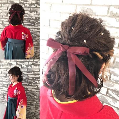 卒業式 袴 ヘアセット